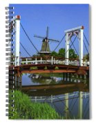 Bridge And Windmill Spiral Notebook