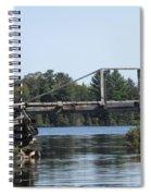 Bridge At Chub Spiral Notebook