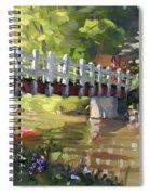 Bridge At Ellicott Creek Park Spiral Notebook