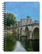 Bridge At Quissac - P4a16005 Spiral Notebook
