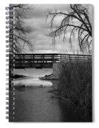 Bridge In Black And White Spiral Notebook