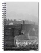 Bridge In Fog Spiral Notebook