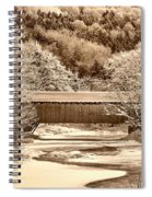Bridge In Sepia Spiral Notebook