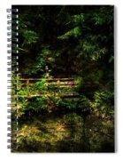 Bridge In The Woods Spiral Notebook