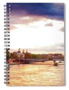 Bridge Of Alexandre IIi And Eiffel At Violet Sunset Spiral Notebook