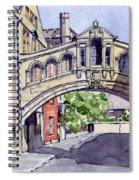 Bridge Of Sighs. Hertford College Oxford Spiral Notebook