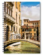Bridge On The Canal Spiral Notebook