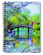 Bridge Over Peaceful Waters Spiral Notebook