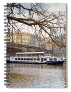 Bridge Over River Vltava Spiral Notebook