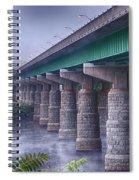 Bridge Over The Delaware River Spiral Notebook