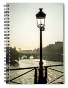 Bridge Over The Seine. Paris. France. Europe. Spiral Notebook