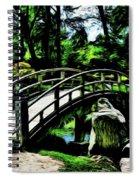 Bridge Over The Stream Spiral Notebook
