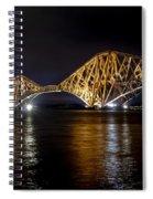 Bridge Over Water Lights. Spiral Notebook