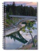 Bridge Reflection Spiral Notebook