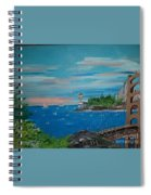 Bridge Scene Spiral Notebook