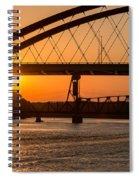 Bridge Sunrise And Boater Spiral Notebook