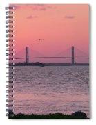 Bridge Sunset Spiral Notebook