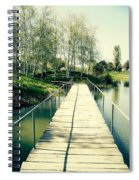 Bridge To Evening Island Spiral Notebook