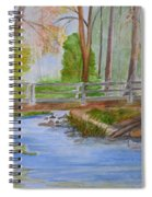 Bridge To Serenity   Smithgall Woods State Park Spiral Notebook
