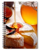 Brie Cheese With Figs And Honey Spiral Notebook