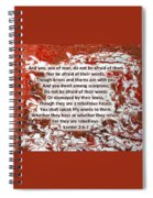 Briers And Thorns With Scripture Spiral Notebook