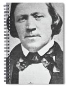 Brigham Young  Second President Of The Mormon Church, Aged 43, 1844 Spiral Notebook