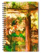Bright Colored Leaves On The Branches In The Autumn Forest Spiral Notebook