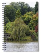 Bright Colors Of Autumn Trees On A Lake , Autumn Landscape. Spiral Notebook