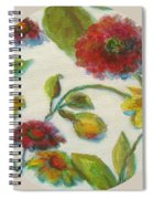 Bright Contemporary Floral  Spiral Notebook