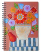 Bright Dahlias Spiral Notebook
