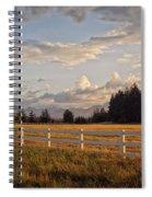 Bright Evening Light Spiral Notebook