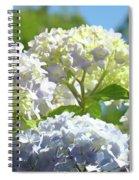 Bright Floral Art Pastel Blue Purple Hydrangeas Flowers Baslee Troutman Spiral Notebook