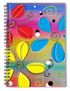Bright Flowers Intertwined Spiral Notebook