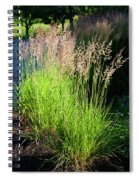 Bright Green Grass By The Pond Spiral Notebook