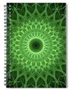 Bright Green Mandala Spiral Notebook