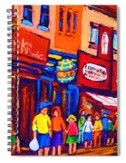 Bright Lights On The Main Spiral Notebook