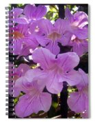Bright-lillac Flowers 6-22-a Spiral Notebook