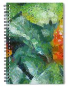 Bright Orange Blooms On A Plant Spiral Notebook