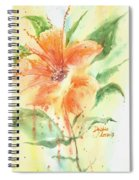 Bright Orange Flower Spiral Notebook