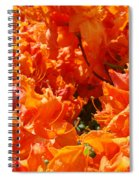 Bright Orange Rhodies Art Prints Canvas Rhododendons Baslee Troutman Spiral Notebook