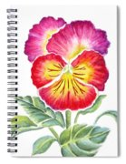 Bright Pansy Spiral Notebook