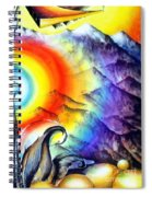 Bright Rainbow And Mountains. Cyborg's Land Spiral Notebook