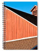 Bright Red Barn Spiral Notebook
