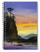 Bright Seacoast Sunset Spiral Notebook