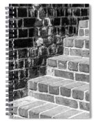 Bright Steps Dark Wall Spiral Notebook