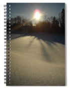 Bright Sun On Fresh Snow Spiral Notebook