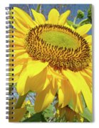 Bright Sunny Happy Yellow Sunflower 10 Sun Flowers Art Prints Baslee Troutman Spiral Notebook