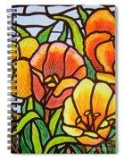 Bright Tulips Spiral Notebook