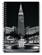 Bright White Lights At Night Spiral Notebook