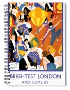 Brightest London Vintage Poster Restored Spiral Notebook